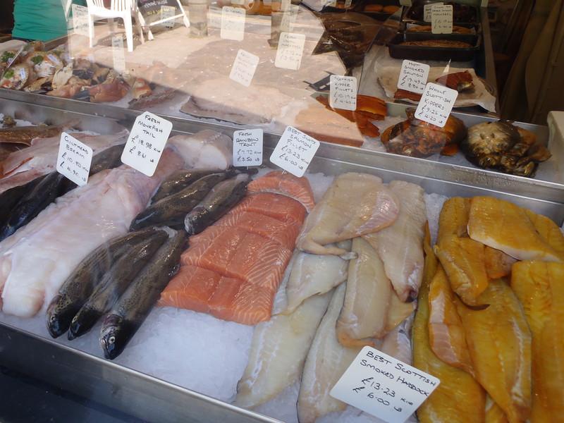 Fish shop in Hastings, UK