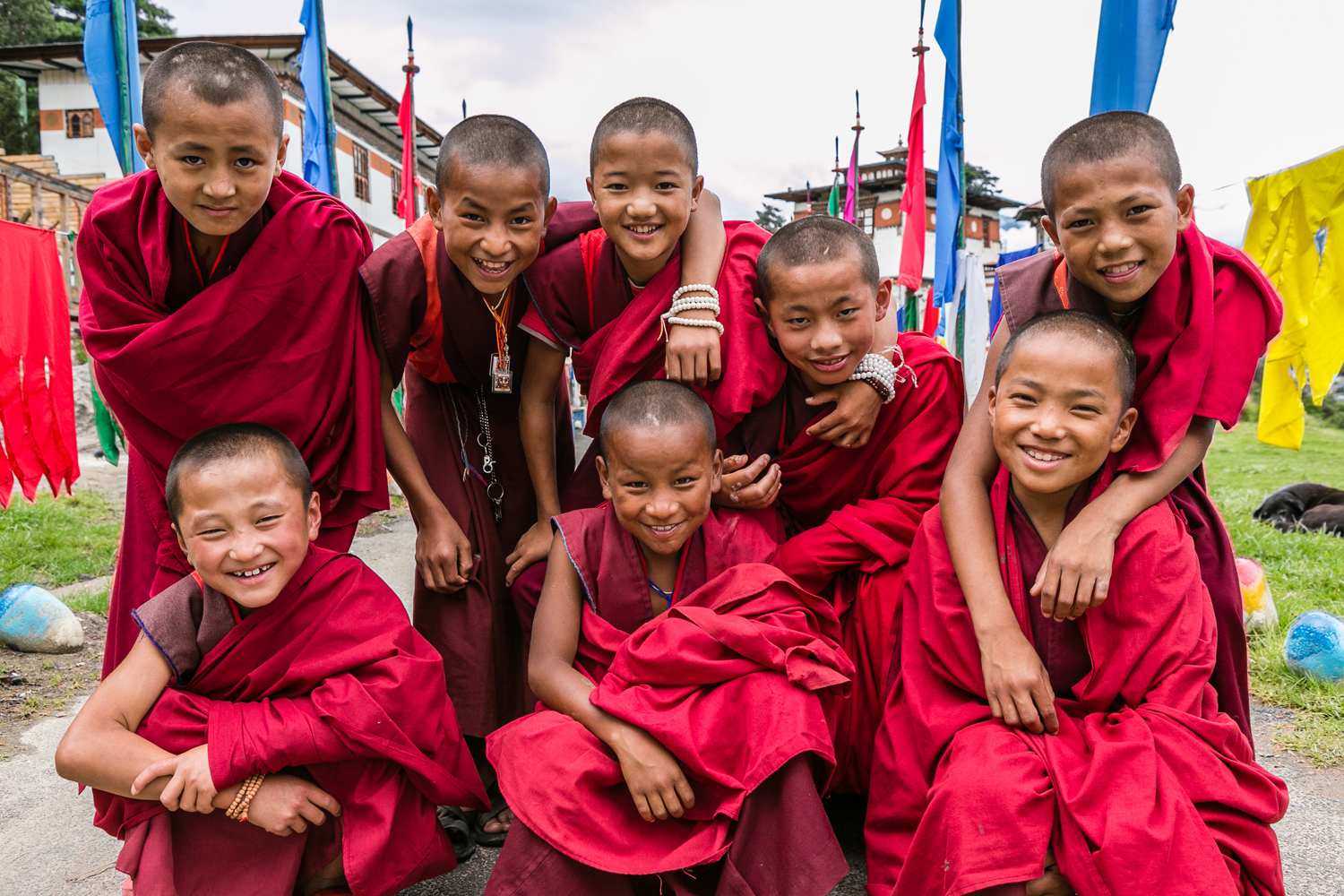 Young monks at Dechen Phodrang monastery