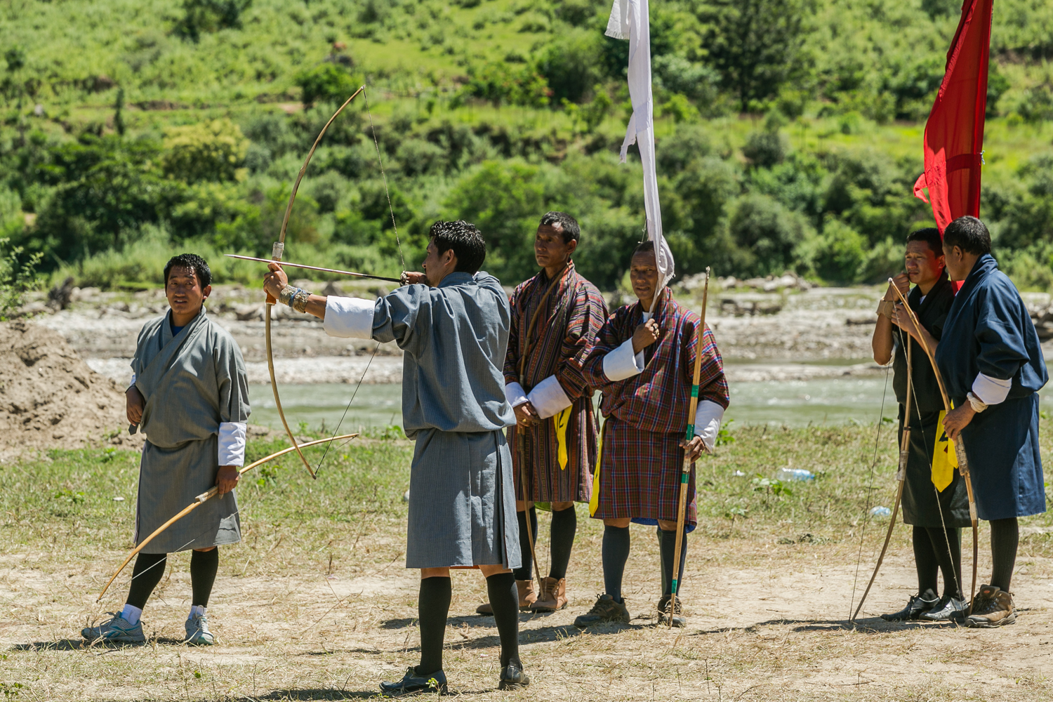 Archery is Bhutan's national sport, practiced by all ages