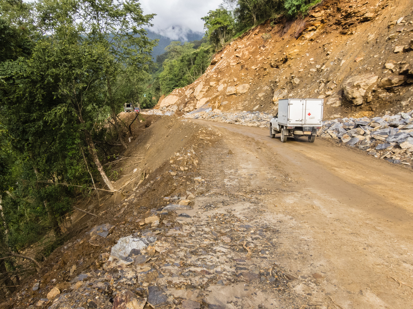 One of Bhutan's infamous roads