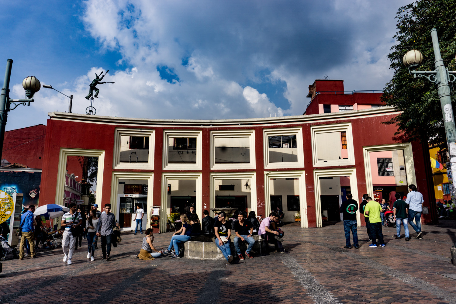 Chorro de Quevedo, Plaza in Candelaria district, Bogotá.
