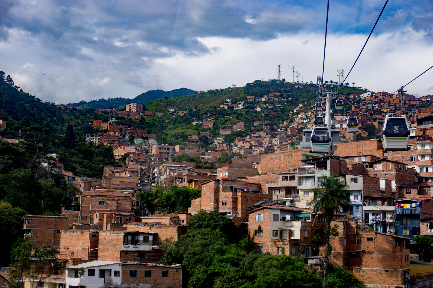 Medellín's cable car system for daily transit.