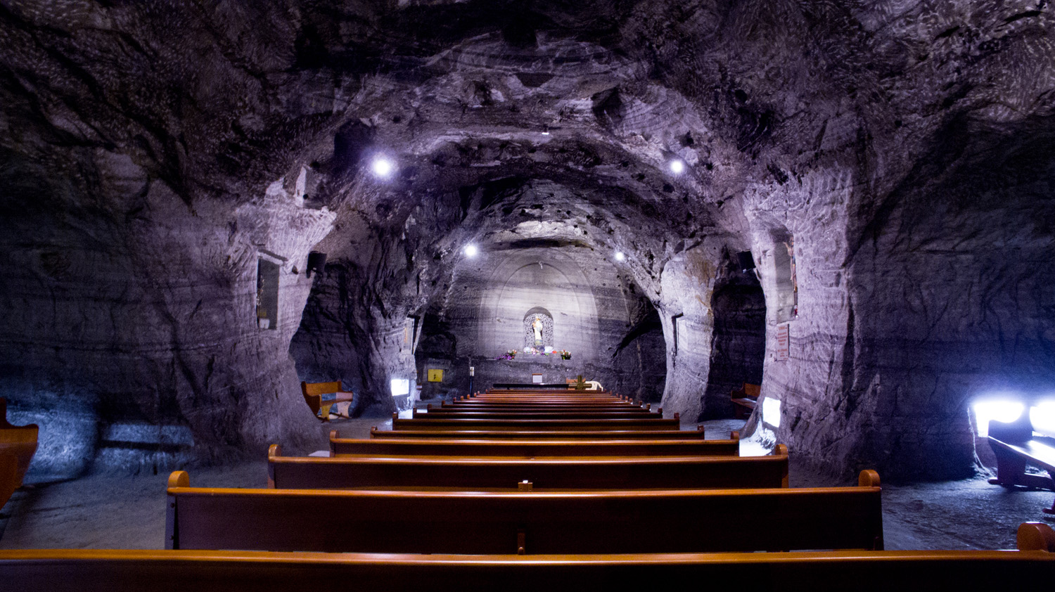 One of the underground chapels in the Salt Cathedral.