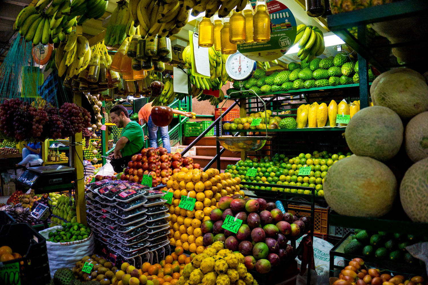 One of many fruit markets in Colombia.