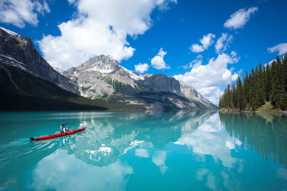 Kayaking Maligne Lake