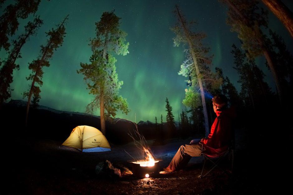 Aurora over Jasper National Park