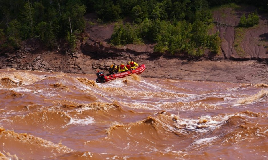 Tidal bore rafting on the Shubenacadie River. Photo courtesy of River Runners.