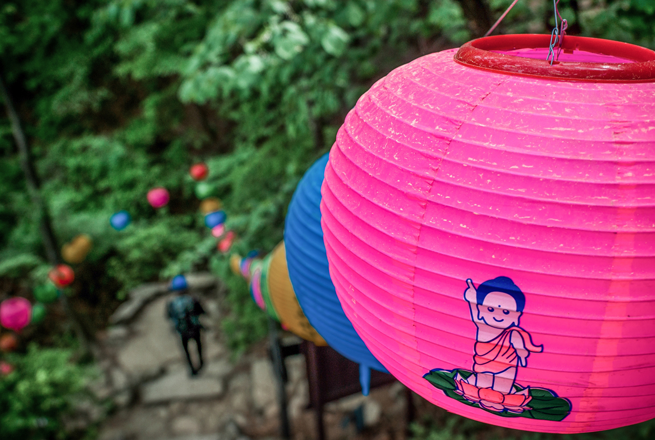 Paper Lanterns hung out to celebrate the Buddha's Birthday national holiday – Dobong Mountain, Bukhansan National Park