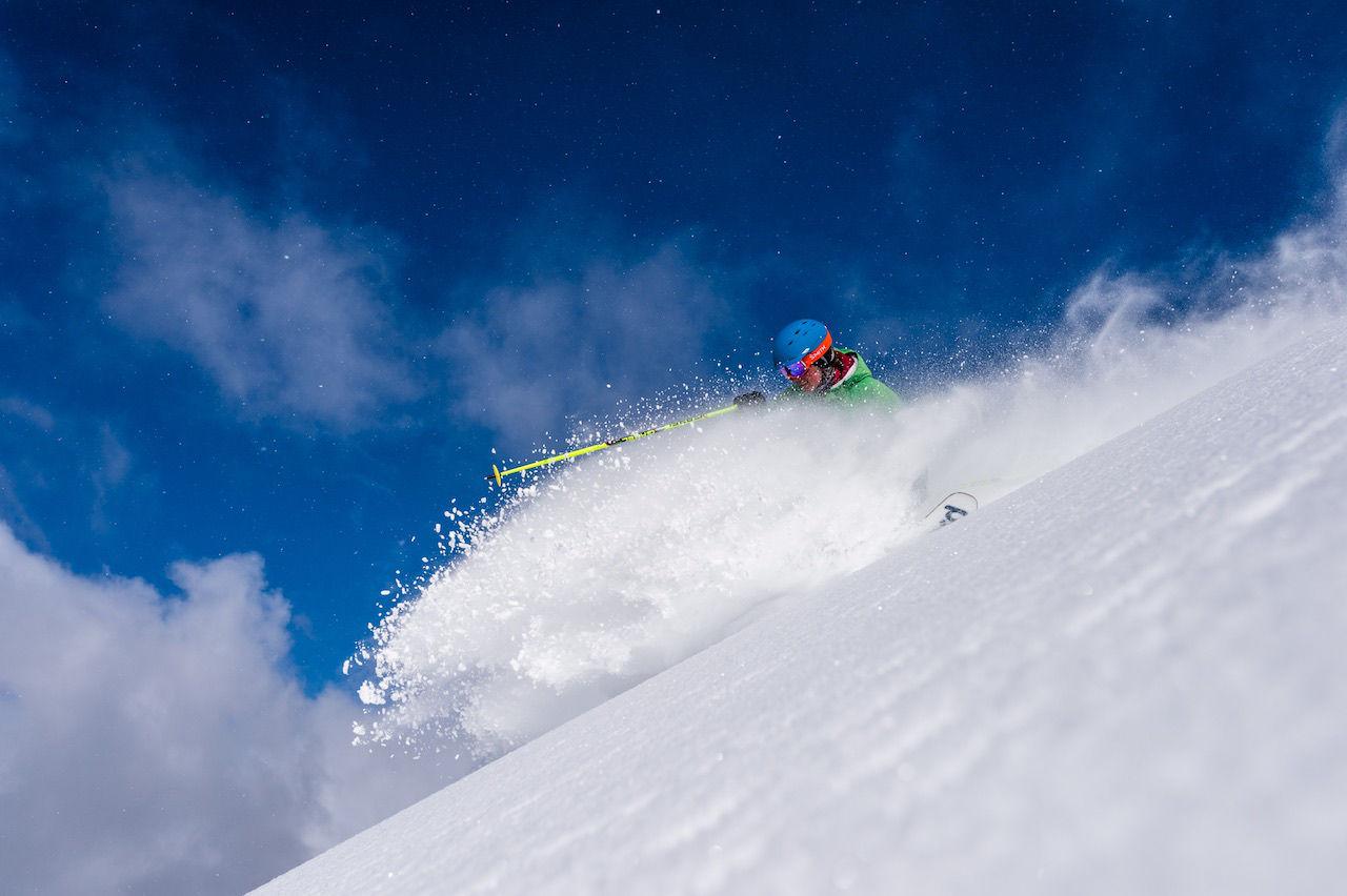 Powder day, Banff