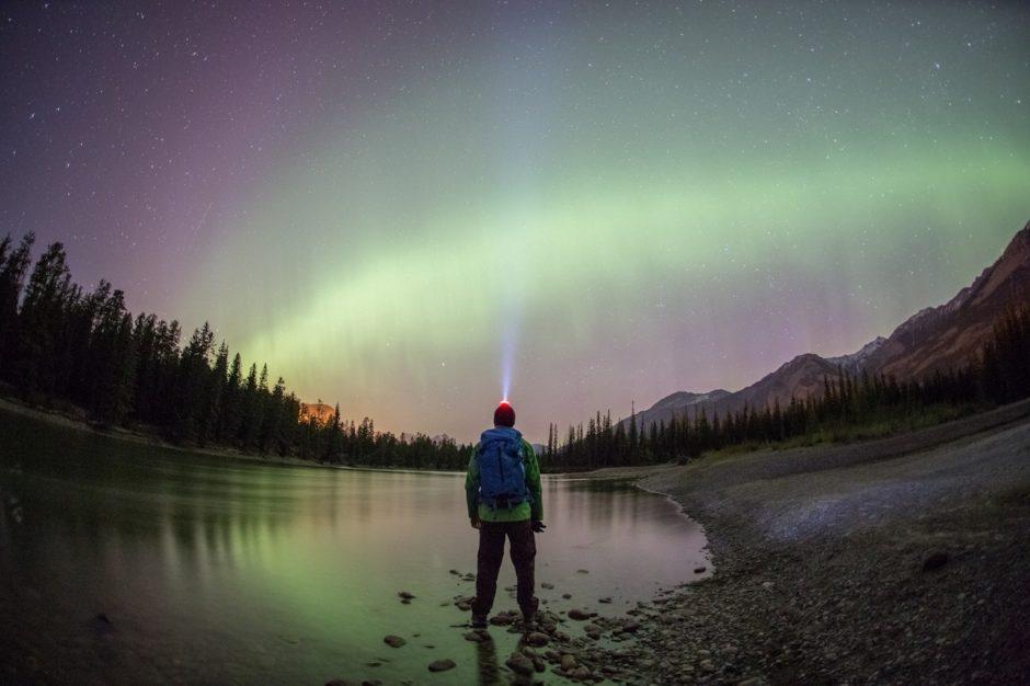 Northern lights aurora Jasper