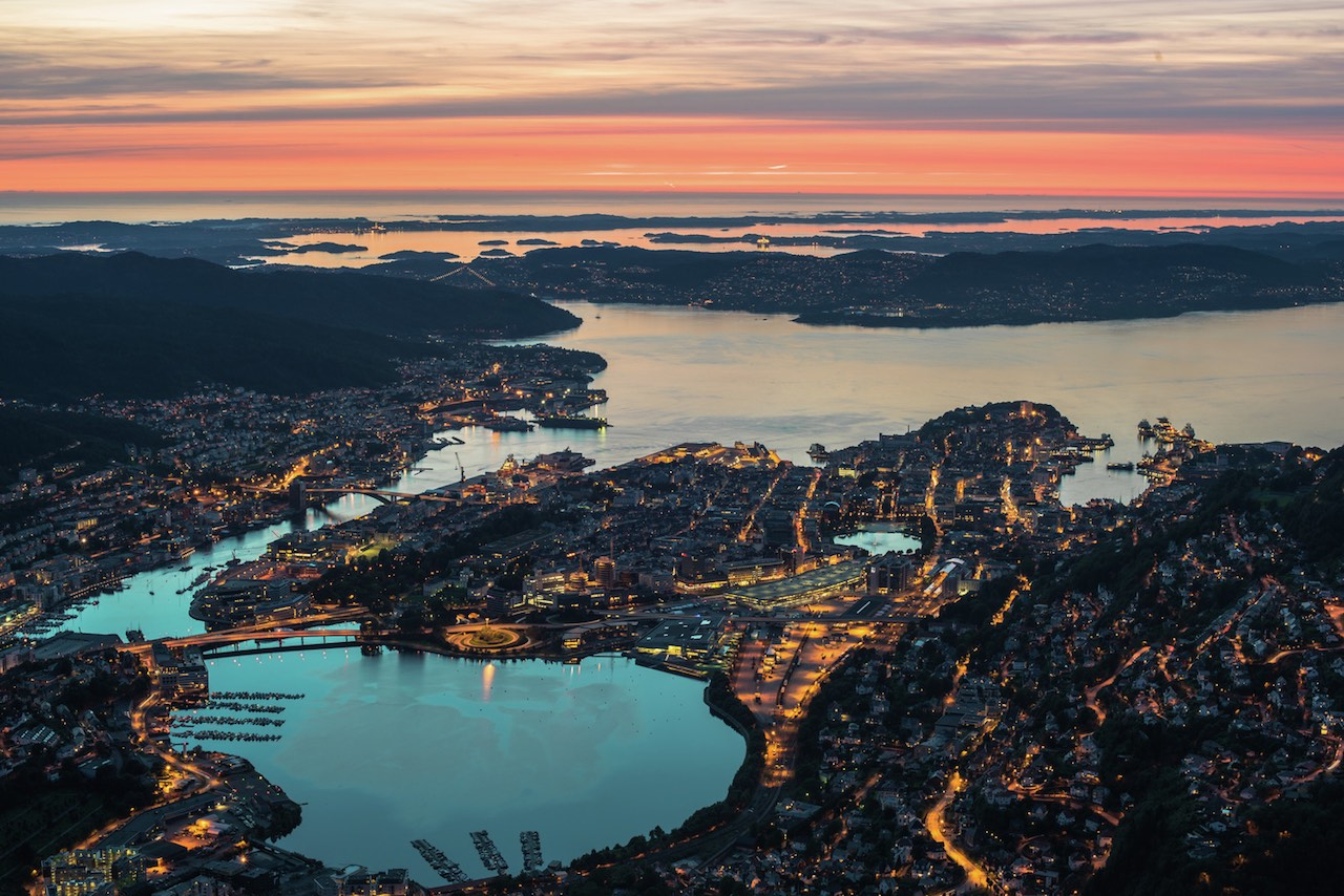 Bergen from Mount Ulriken