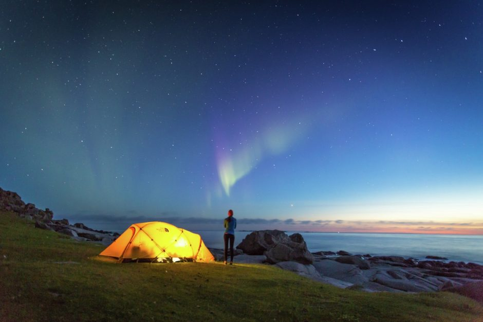Camping aurora Norway don't re use