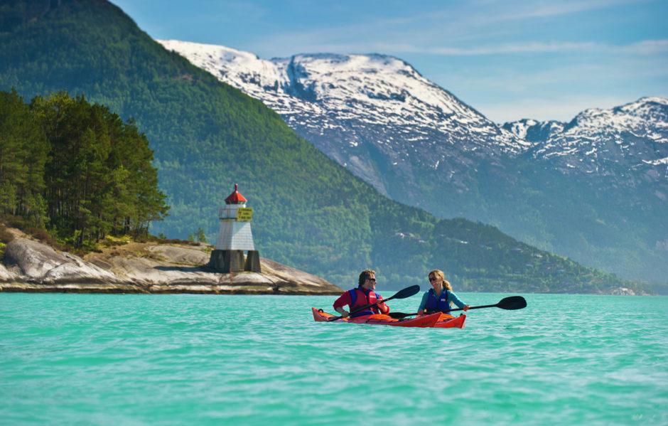Kayaking the Hardangerfjord