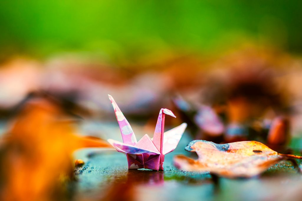 A simple crane can brighten someone's day. There's origami out there for all skill levels, and all it takes it a little paper and a little patience to make something beautiful.