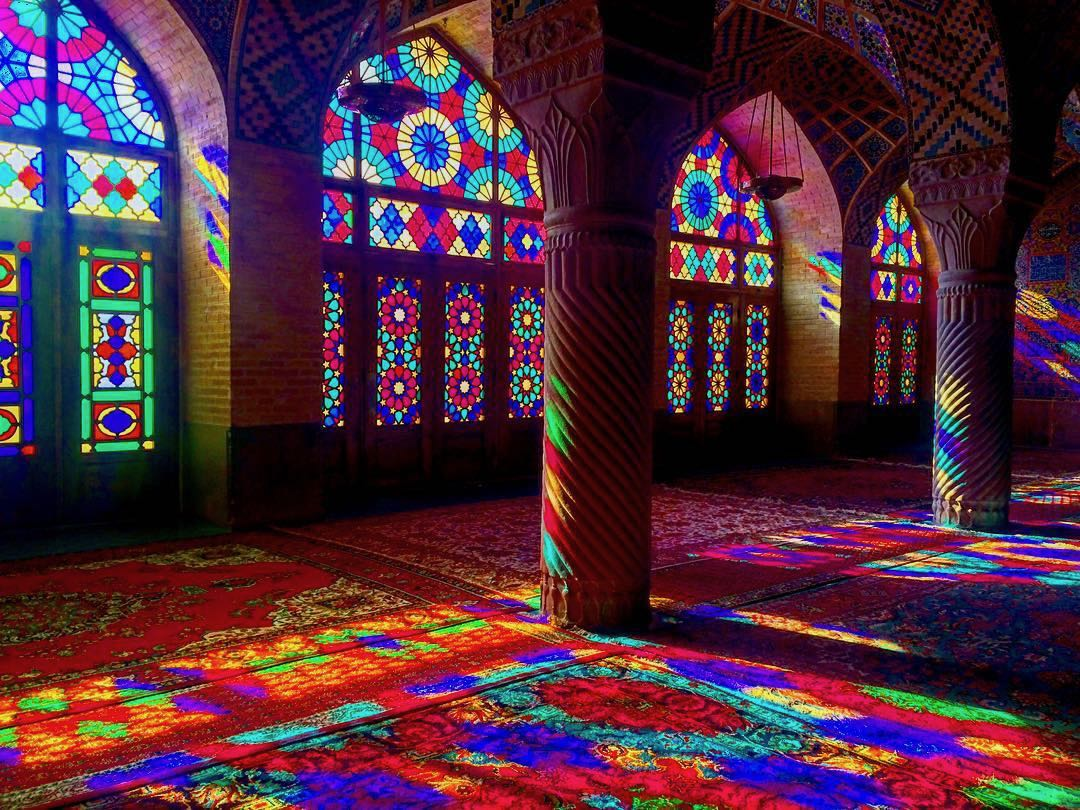 Nasir Ol Molk Mosque - the mosque from the postcard that inspired me to travel to Iran.