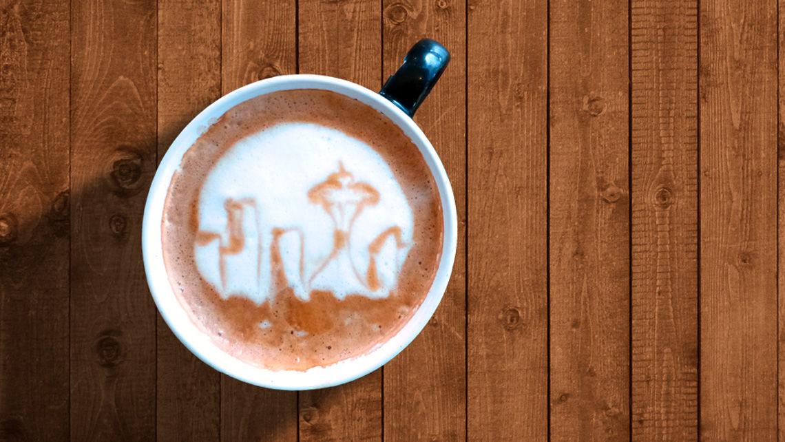 Seattle coffee foam