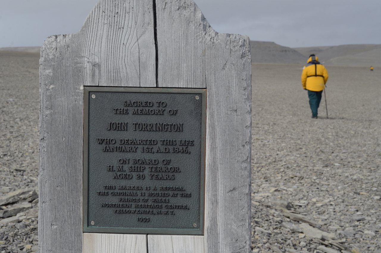 Grave at Beechey Island – Officer John Torrington from Franklin Expedition