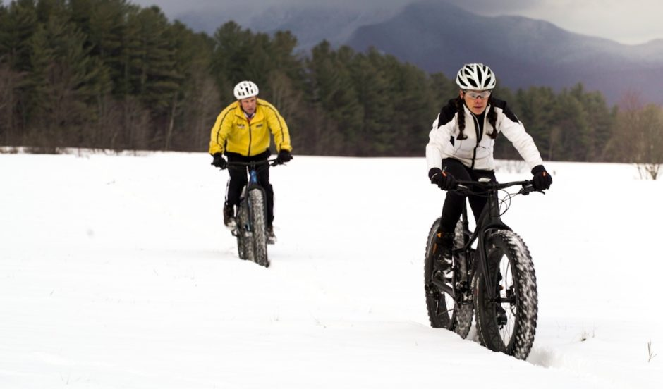 Fat bike in the snow