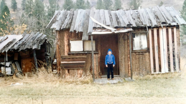 The author as a boy in Gilpin, BC