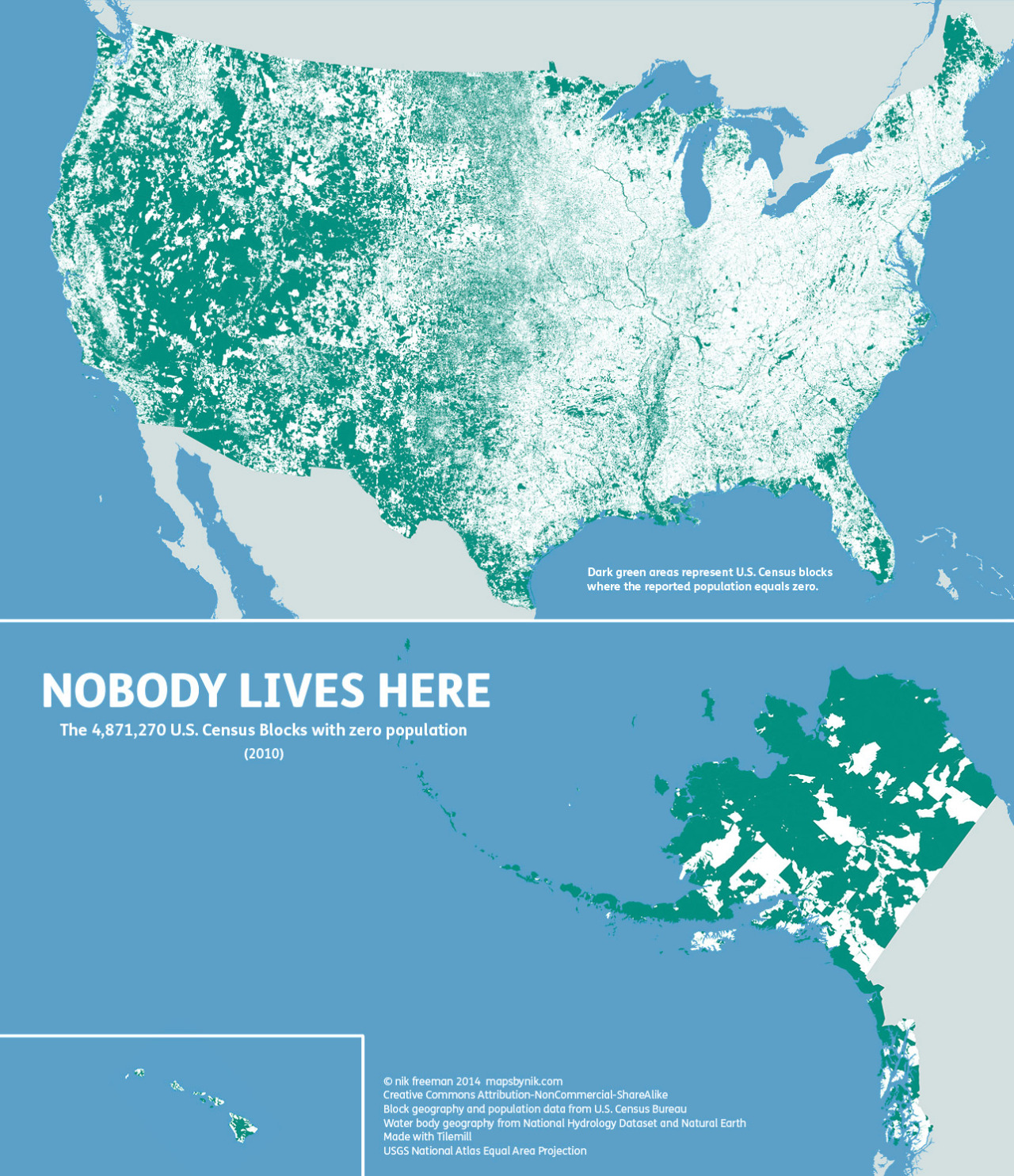 This Map Shows Where Nobody Lives in the U.S.