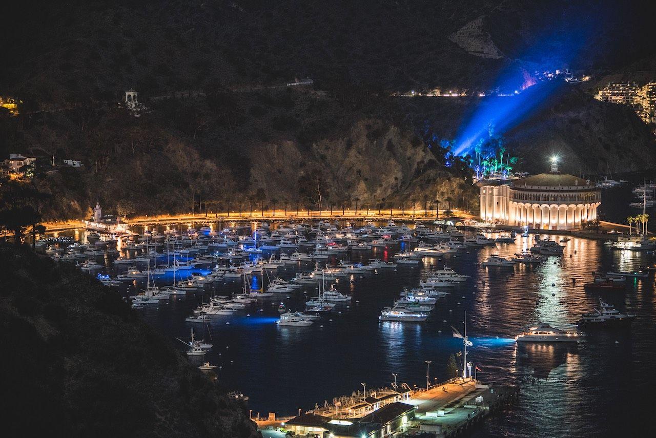 Catalina Island night panorama