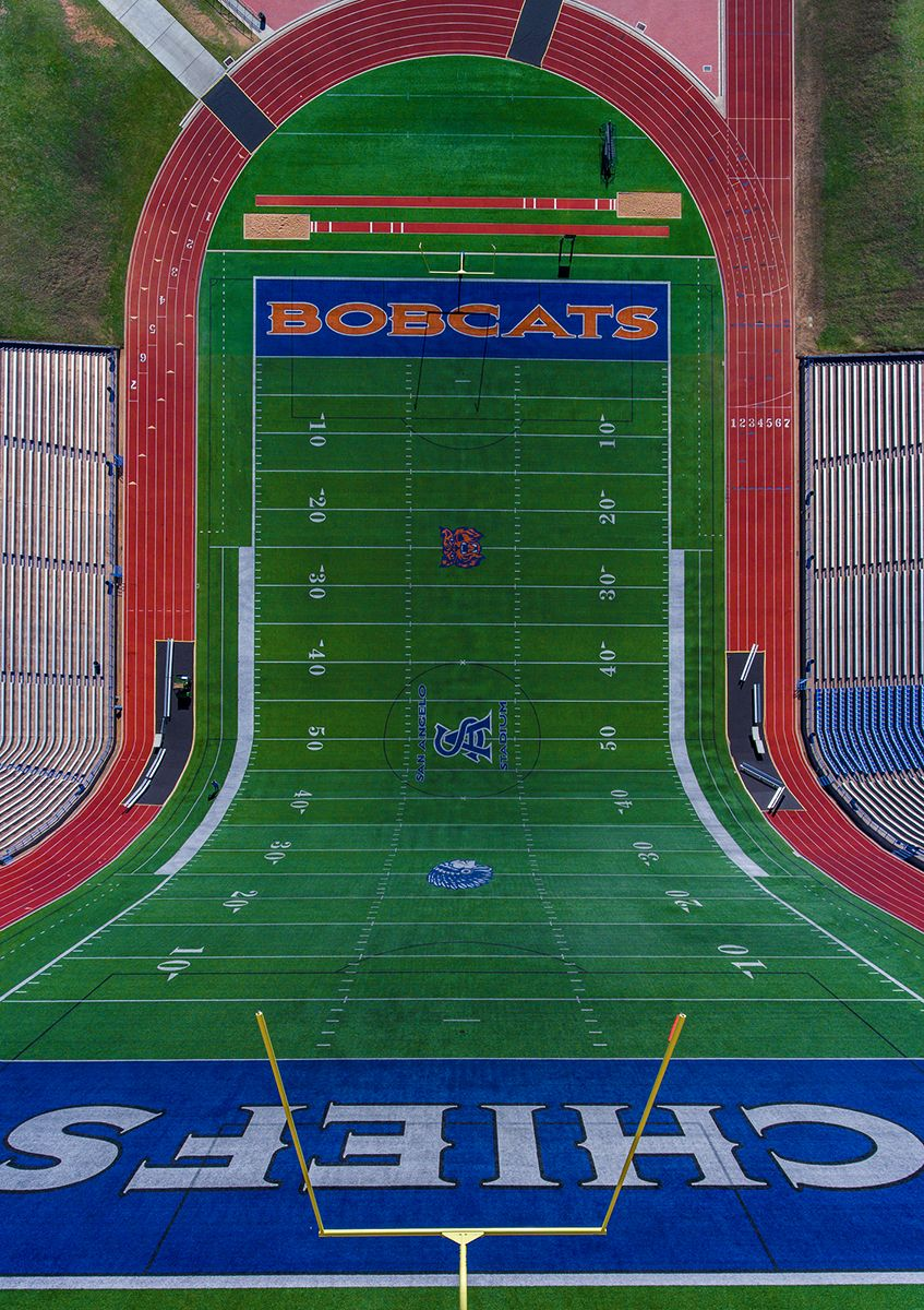 Football field in Texas