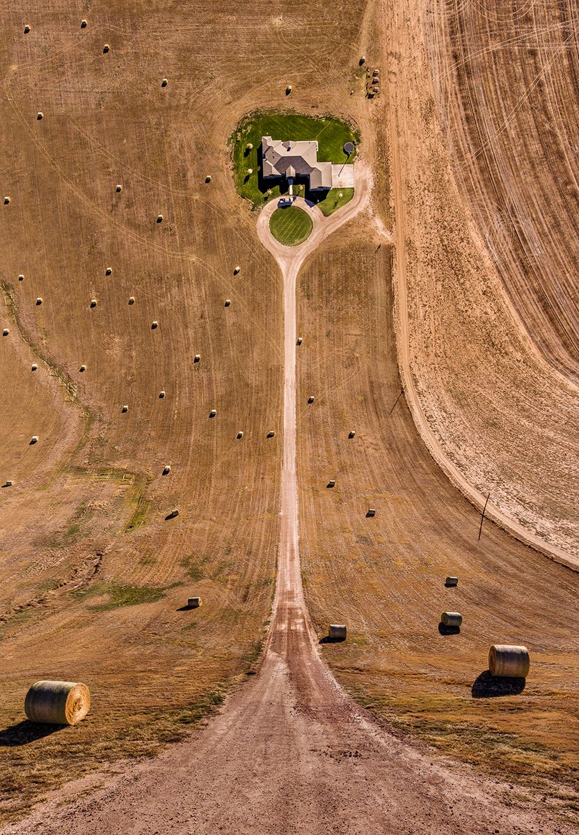 Hay bales in Texas