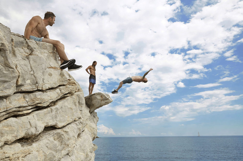 Cliff jumping, Greece