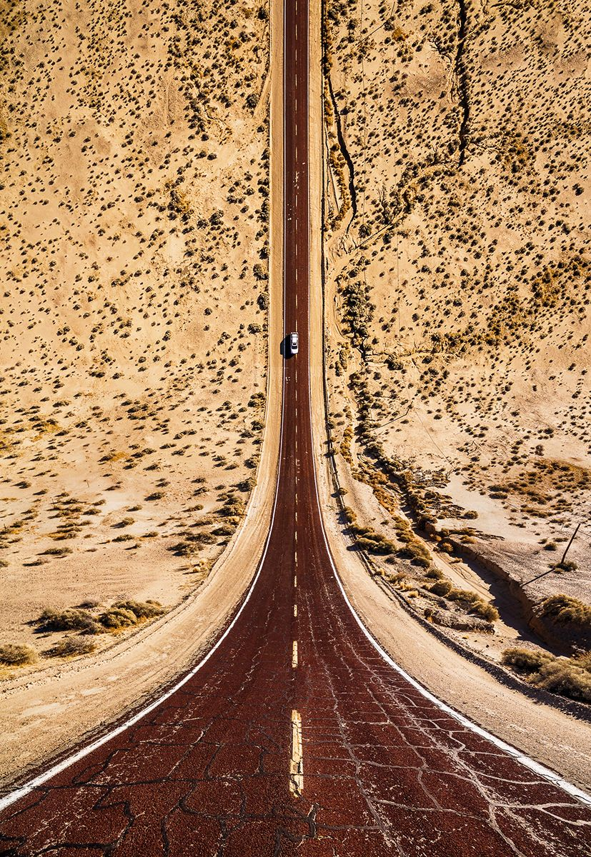 Red road in Arizona
