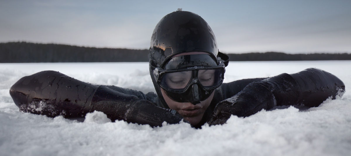 Watch the woman who found salvation in free diving under the Arctic ice