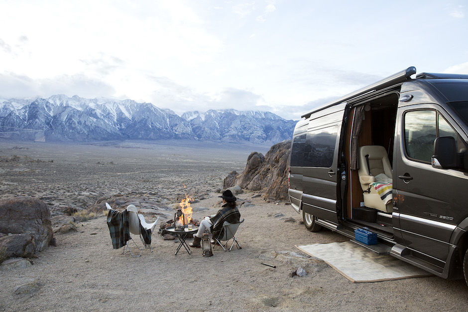 RVing outdoors