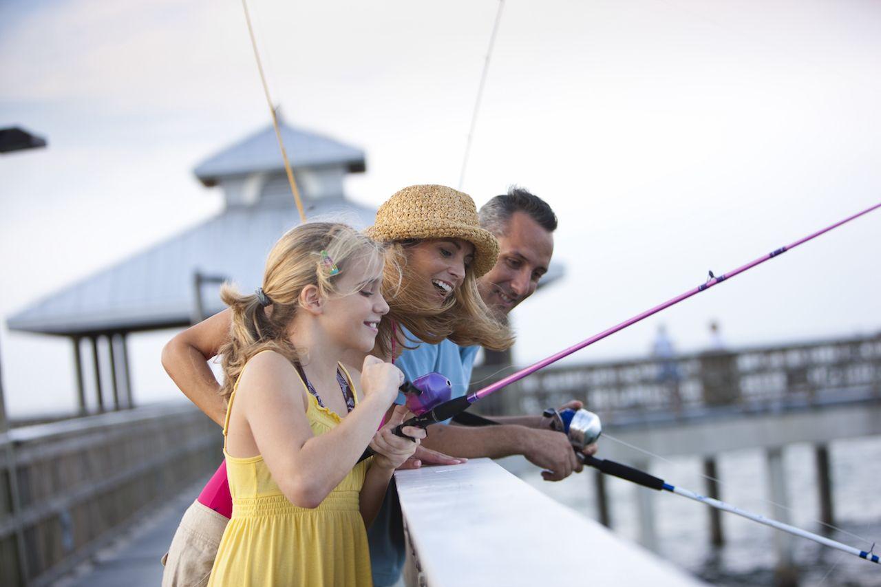 Fort Myers pier fishing kids