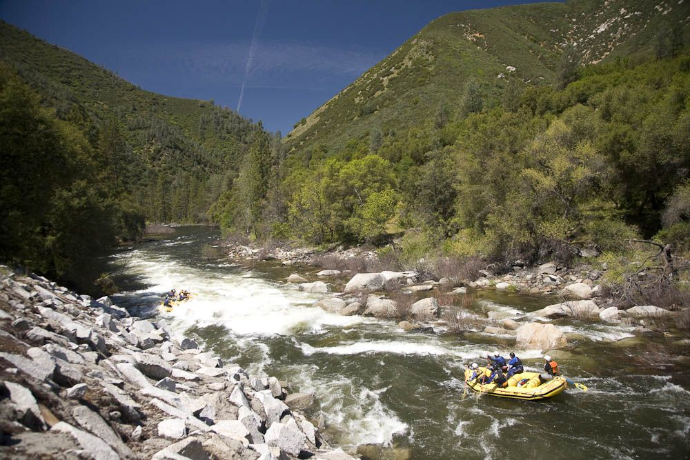 The Best National Parks for Rafting | Merced River flowing out of Yosemite National Park