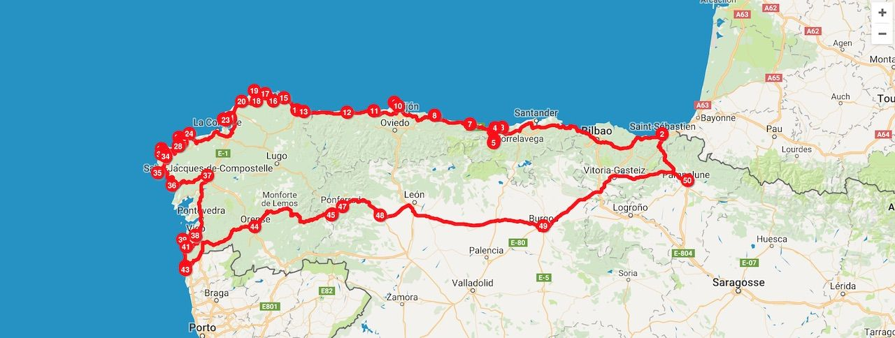 Map Of North Spain Coast.Watch This Video Of 2 Strangers On A Road Trip Around The Northern