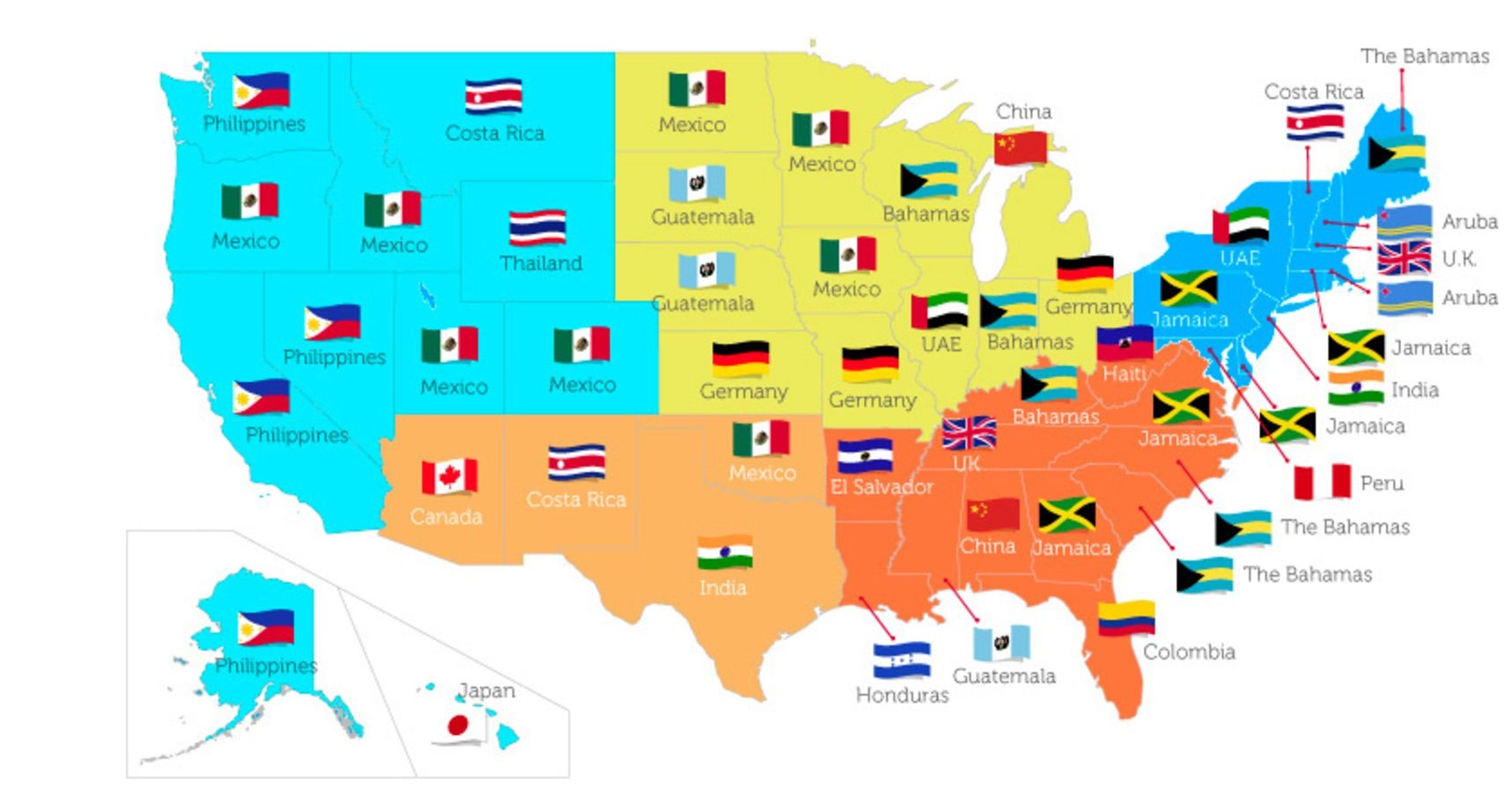 Americans travel destinations