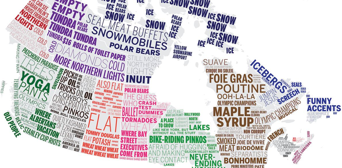 Canadian stereotypes mapped