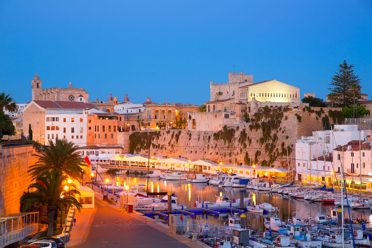 Port of Ciutadella on Menorca, one of Spain's Balearic Islands