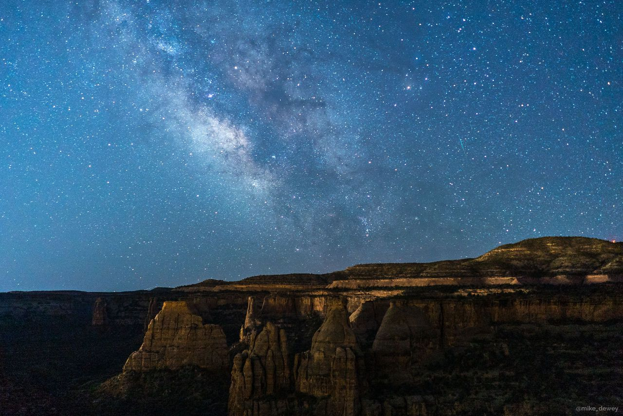 Starry skies over Colorado National Monument