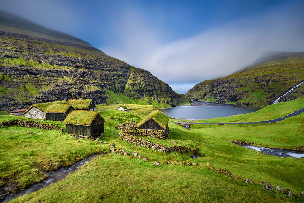 Village Saksun on Streymoy in the Faroe islands