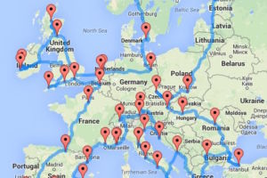 Mapped: the optimal road trip across Europe