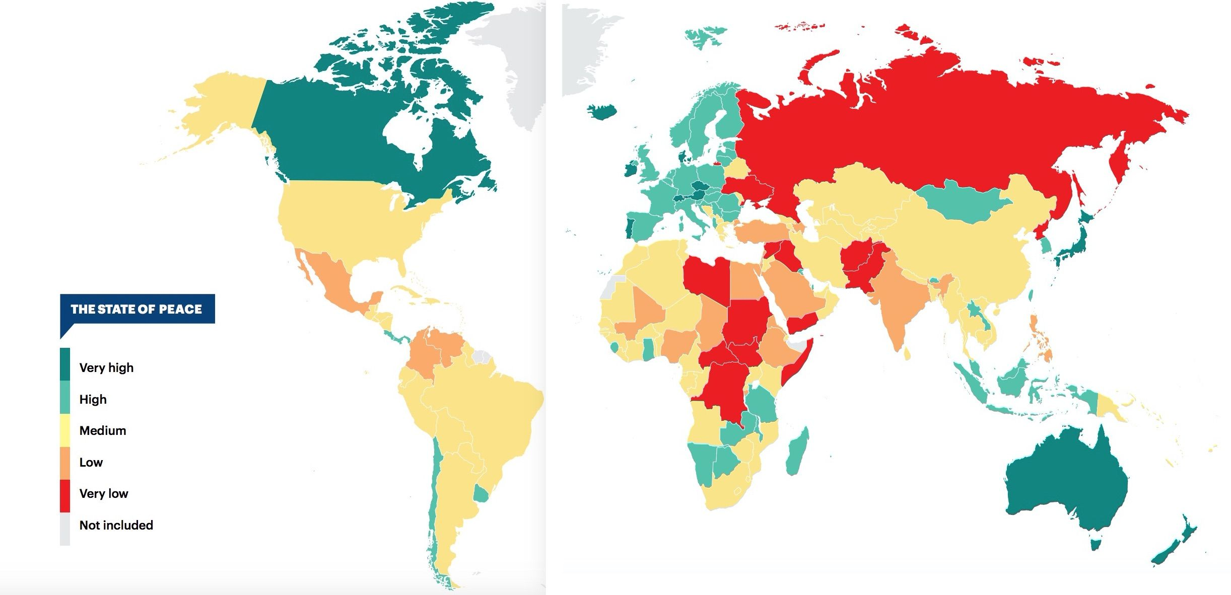 What are the most peaceful countries in the world?