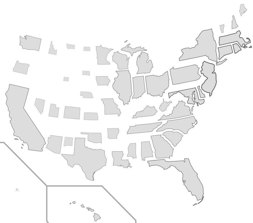 Does The US Population Density Looks Like - Map of the us population density