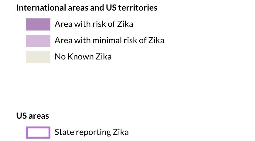 In what countries is the Zika virus active?