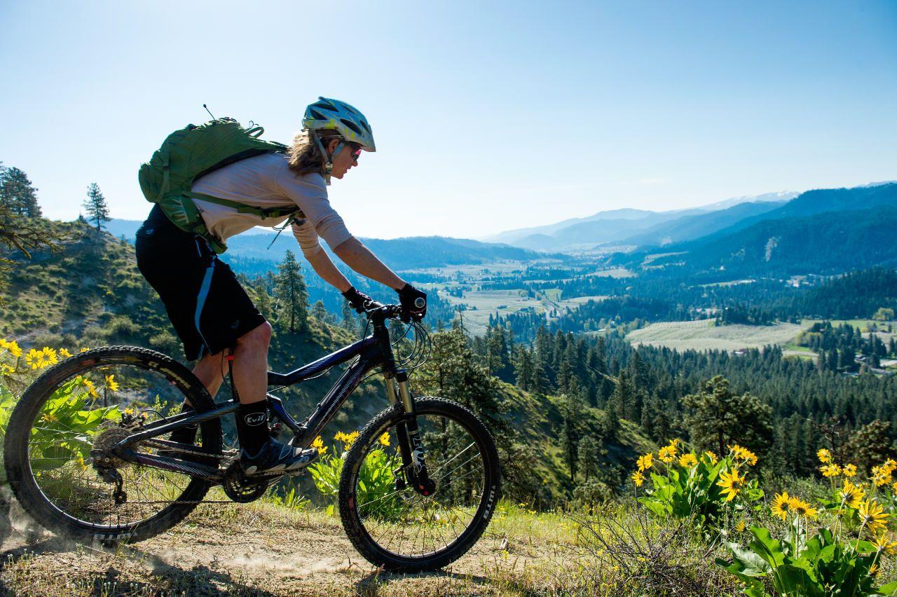 Mountain biking, Leavenworth, WA