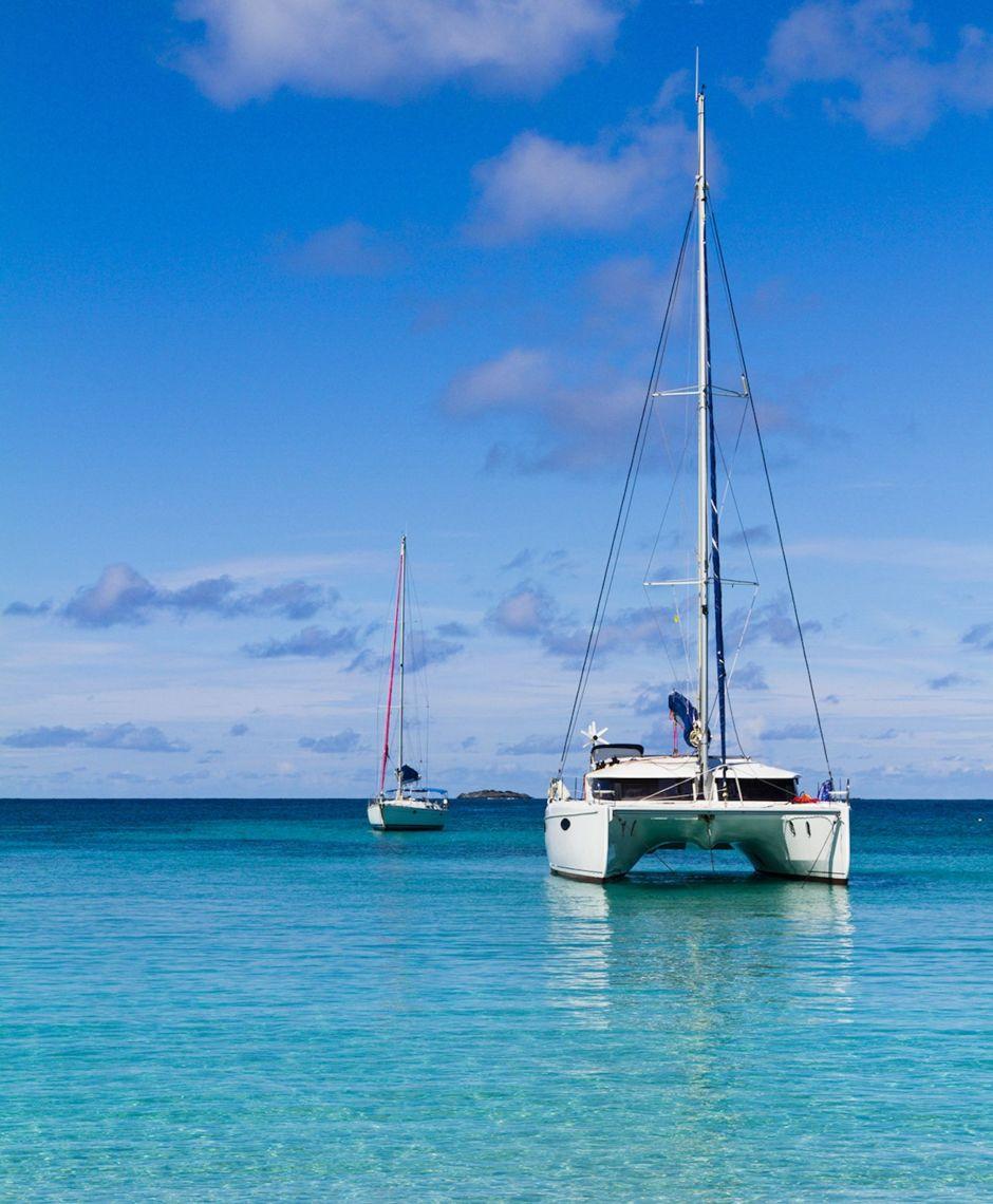 Catamaran boat Caribbean