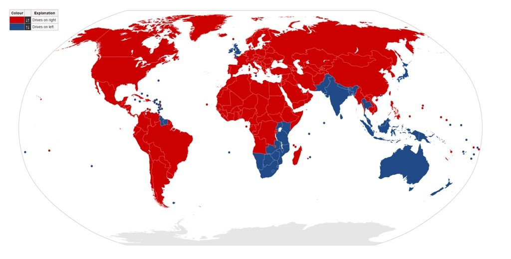Which side of the road does the world drive on? Check this map to find out!