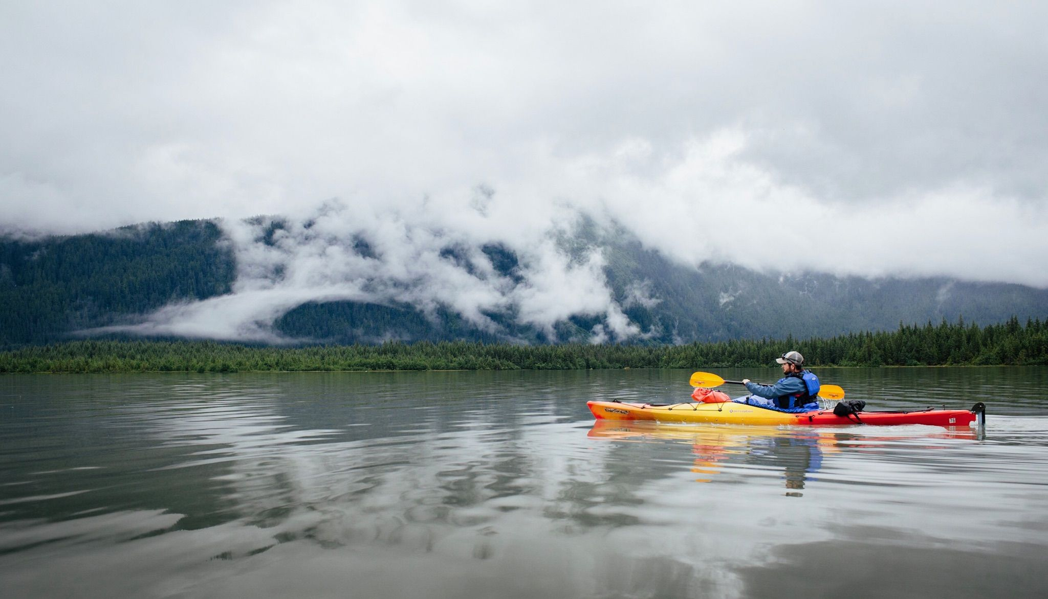 Paddling to the Mendenhall glacier