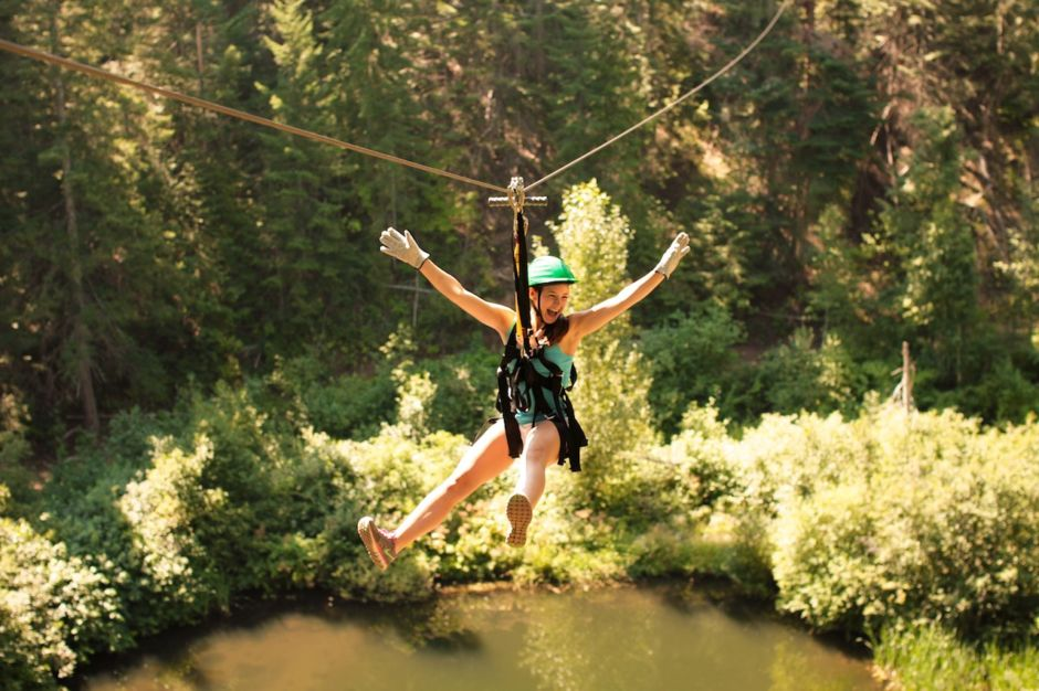 Leavenworth zipline outdoors