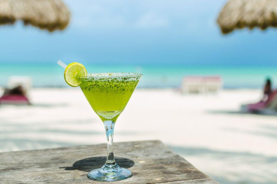 Margarita beach Caribbean