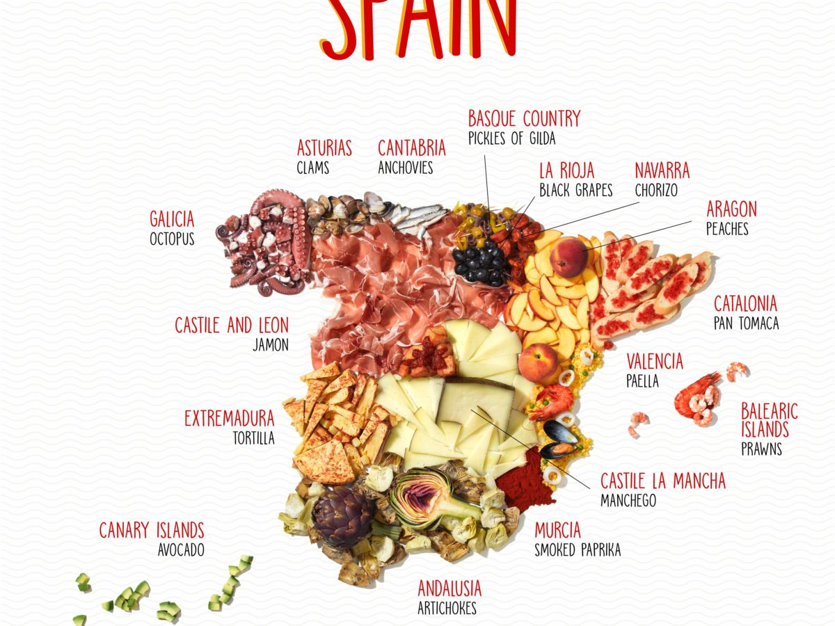 Your guide to the food of Spain [INFOGRAPHIC]